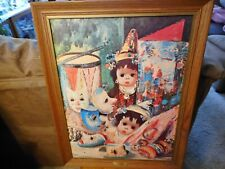 French Dolls Print on cardboard by Jean Calogero