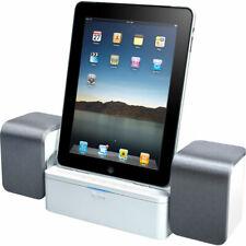 New listing iLuv iMm747-01 Audio Cube Stereo Speaker Dock for 30-Pin Apple jAura White New