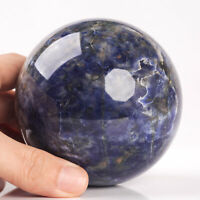 884g 87mm Large Natural Blue Sodalite Quartz Crystal Sphere Healing Ball Chakra