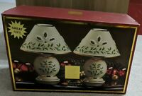 LENOX Set Of 2 Holiday Tea Light Candle Lamp New In Box Christmas