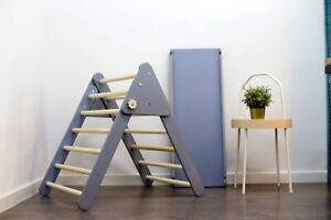 Pikler triangle with slide, Climbing toddler triangle