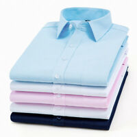 Men's French Cuff Dress Shirts Formal Slim Casual Shirts Button-Down Luxury