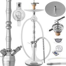 DILAW® MANYAK Shisha Set  Aluminium Alu Wasserpfeife Molassefänger Hookah Silber