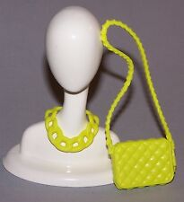 Accessories - Barbie Doll Fashionista Dreamhouse Yellow Necklace & Purse Lot