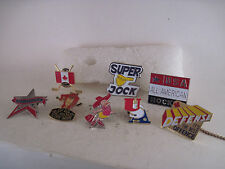 Hockey pins lot of  8 different items all mint