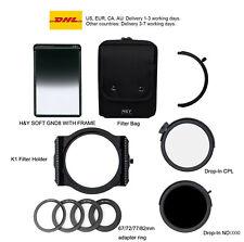 H&Y K1 square 100mm filter holder K-series+MRC CPL+ND1000+SOFT GND8  kits