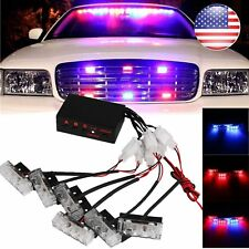 18 LED Car Dash Strobe Lights Blue/Red Flash Emergency Police Warning Lamp