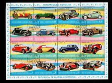 EQUATORIAL GUINEA, CANCELLED, 1974, Automobiles, cars,1FXX
