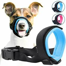 Gentle Muzzle Guard for Dogs - Prevents Biting Unwanted Chewing Medium Blue