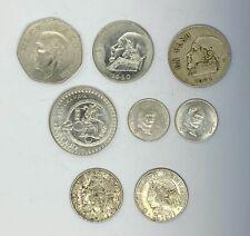 Vintage Mexican Silver Coins Diez Peso Un Peso $20 Cincuenta Centavos 1970-1980