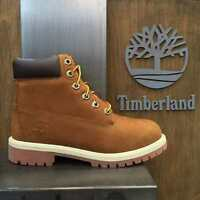 "Youth  Boys Timberland 6"" 6 Inch Premium Boots New, Rust Brown 14949"