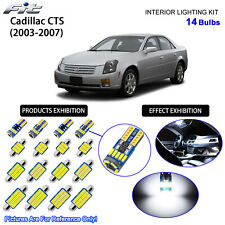 14 Bulbs LED Interior Light Kit Cool White Dome Light For Cadillac CTS 2003-2007