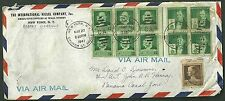The international nickel company 1941 air mail cover panama canal zone