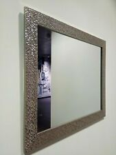 Large Mosaic Silver Mirror Bedroom Hallway Hanging Wall Gift 59X49cm