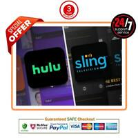 SlingTV Orange And Blue + Extra + H U L U | 3 years Warrnty [Fast  Delivry]