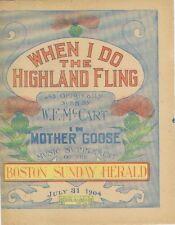 When I Do The Highland Fling, newspaper supplement,  1904