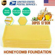 30x Honeycomb Bee Wax Frames Beekeeping Foundation Honey Hive Equipment Supplies