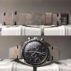 20 mm Gray Suede Leather Strap bracelet cinturino armband for vintage valjoux