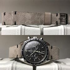20 mm handmade Gray Suede Leather watch Strap bracelet cinturino armband