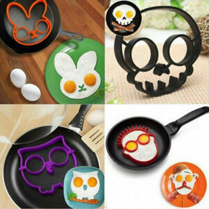 Cooking Breakfast Omelette Mold Silicone Egg Pancake Ring Shaper Tool Kitchen