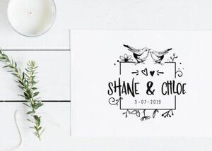 SELLO BODA Personalizado para Invitaciones, Tarjetas... Ideal boda boho
