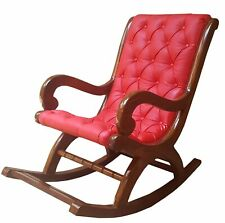 Wood Rocking Rolling Chair Antique Vintage Home Office Furniture