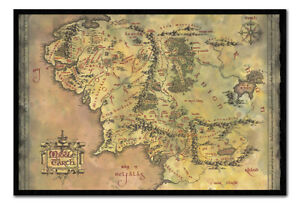 The Lord of the Rings Middle Earth Map MAGNETIC NOTICE BOARD Inc Magnets