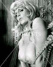 1960s NUDE 8X10 PHOTO BUSTY BIG NIPPLES PINUP CANDY SAMPLES FROM ORIGINAL NEG-3