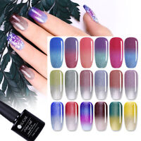 7.5ML Thermolack Farbwechsel UV GEL Nagellack Color Changing Gel Polish UR SUGAR