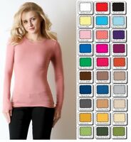 T Shirt Crew Cotton Neck Zenana Long Sleeve Misses Size Small USA    *CLOSEOUT*