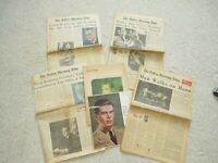 Various Vtg Newspapers - LBJ Dies, Wallace Shot, Nixon Resigns, Man on Moon, Etc