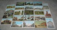 15 1910-1920's & 6 linen & 1940's-50's era Gary  Indiana Postcards  Nice Lot