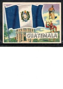 EARLY GUATEMALA FLAG TRADE CARD, NATIONAL FLAG OF GUATEMALA