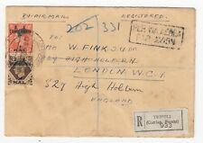 1950 British Administration Tripolitania Registered Cover Airmail to LONDON