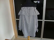BLACK/WHITE GINGHAM COLD SHOULDER  DRESS SIZE 12 BNWT
