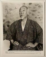 Pat Morita Signed Autographed 8x10 Photo Full BAS Beckett Letter Karate Kid