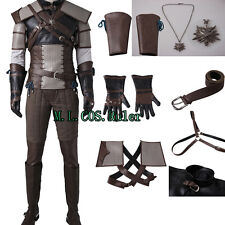 New Original The Wild Hunt -Geralt of Rivia Cosplay Costume Full Suit clothing