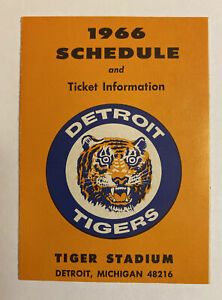 Vintage 1966 Detroit Tigers/J L Hudson's Baseball Schedule