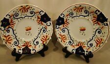 Pair of Gaudy Welsh Double Handled Cake Plates 1820-1850