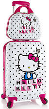 Heys Hello Kitty 2 Piece Spinner Luggage and Beauty Case - White / Pink