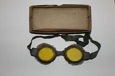 WW2 RAF TINTED FLYING GOGGLES IN ORIGINAL BOX OF ISSUE