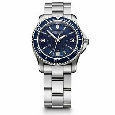 Victorinox Swiss Army Maverick Blue Dial Silver Steel Bracelet Ladies 241609