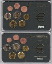 More details for three cased luxembourg eight coin euro sets with certificates near mint