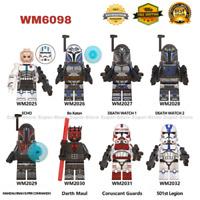 8Pcs Star Wars Clone Wars Trooper Darth Maul 501st Minifigures Lot Lego MOC Toys