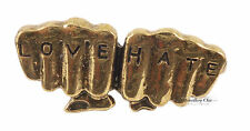 Bronze Quirky Love Hate Fists Tattoo Costume Jewellery Ring