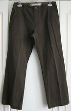 GAP VINTAGE BOOT FIT BROWN COTTON TROUSERS CHINOS KHAKIS - 32 R