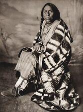 1925 Original Print CANADA ~ Cree Native Indian Wife Chief Crowfoot Photo Art