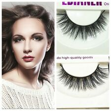 Fashion Makeup Tool Real Mink Natural Long Black Eye Lashes Fake False Eyelashes