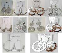 SU-99 Wholesale lot 10 pairs beautiful Fashion Dangle Silver Plated  Earrings
