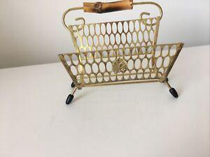 Vintage Brass Letter Stand/rack